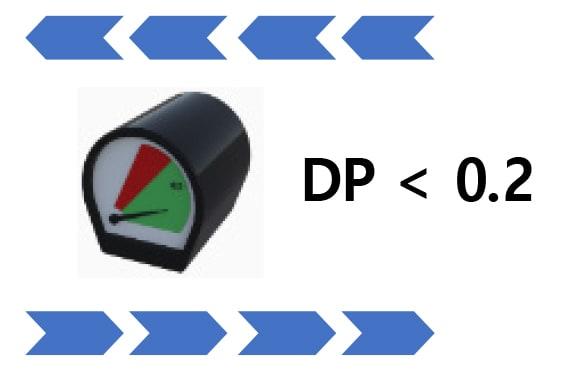 low differential pressure